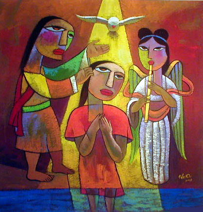 Baptism of Jesus by HeQi