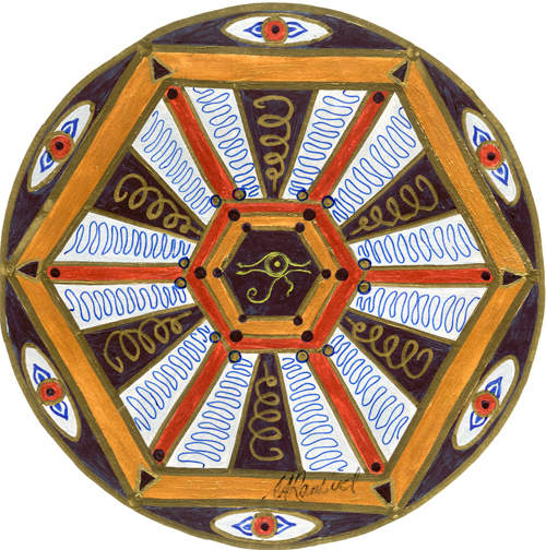 Discernment mandala: Divine creativity expressed through the mind's eye.