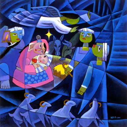 """Nativity 2"" by He Qi"