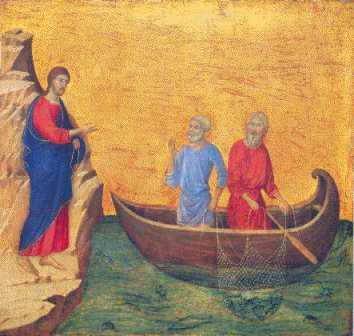Jesus Calls the Disciples, by Duccio di Buoninsegna, 1308-11