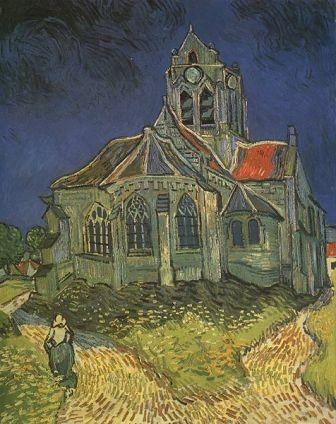 The Church at Auvers 1890, by Vincent van Gogh