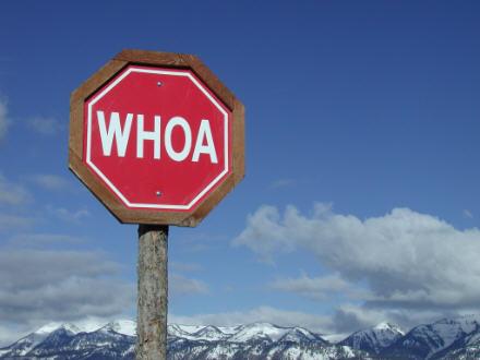 Vernacular stop sign
