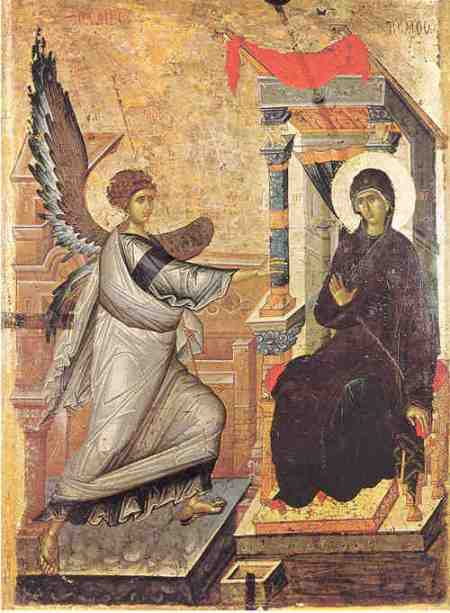 Le point vierge: Annunciation