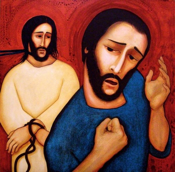Peter Denies Jesus Artist unknown