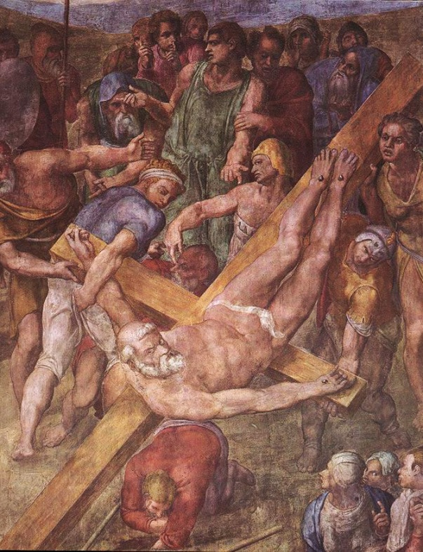 Martyrdom of St. Peter Michelangelo, the Sistine Chapel