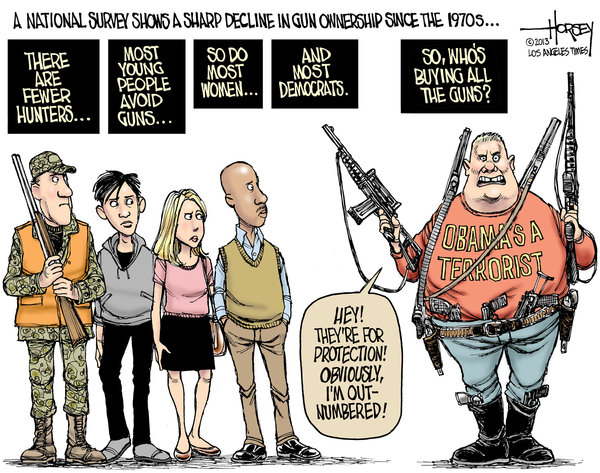 Guns: A pernicious American fascination By David Horsey, The Los Angeles Times