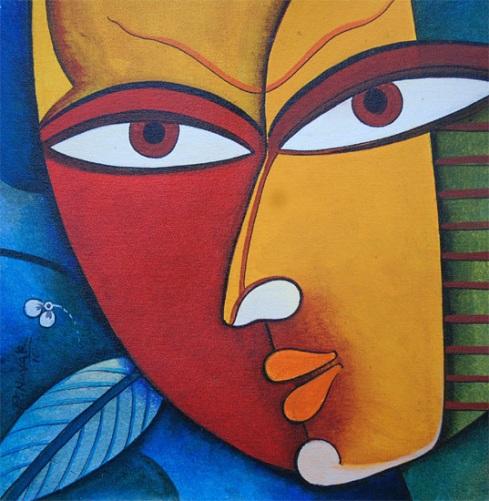 """""""Mask of God-1"""" by Prakash G Naya"""