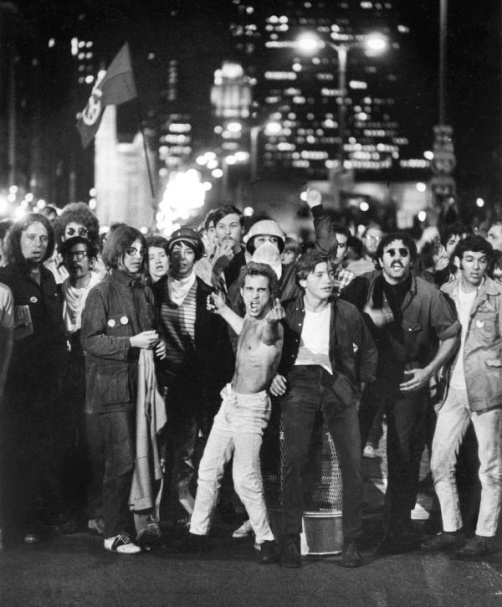 Defiant anti-war protesters: Chicago, 1968