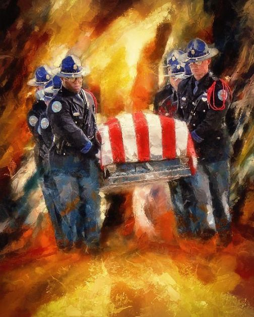 Fallen Officer by Christopher Lane