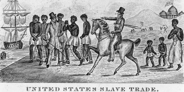 Slave trade: Big business in America's formative years Etching circa 1800